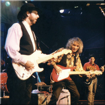 Tom with Albert Lee, 1995